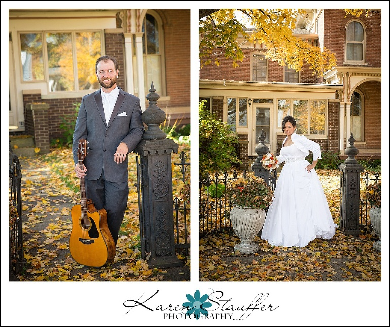 Lexington IL fall wedding