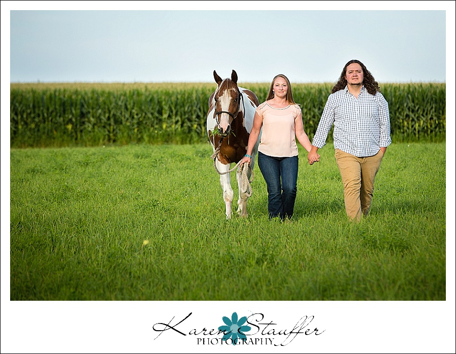 Engagement Session on a farm