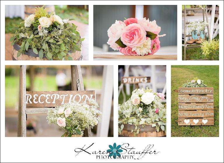 farm wedding details