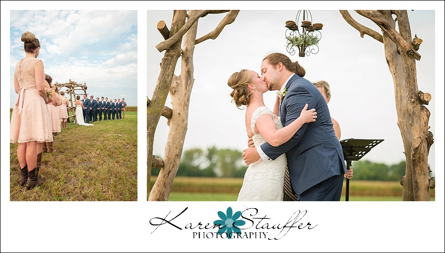 Wedding Ceremony & The Kiss