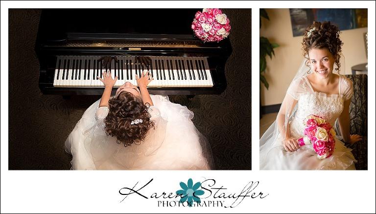 Bride with piano
