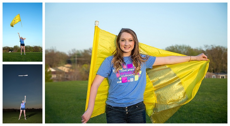 NCHS Senior Color Guard Session | Bloomington Senior Photographer