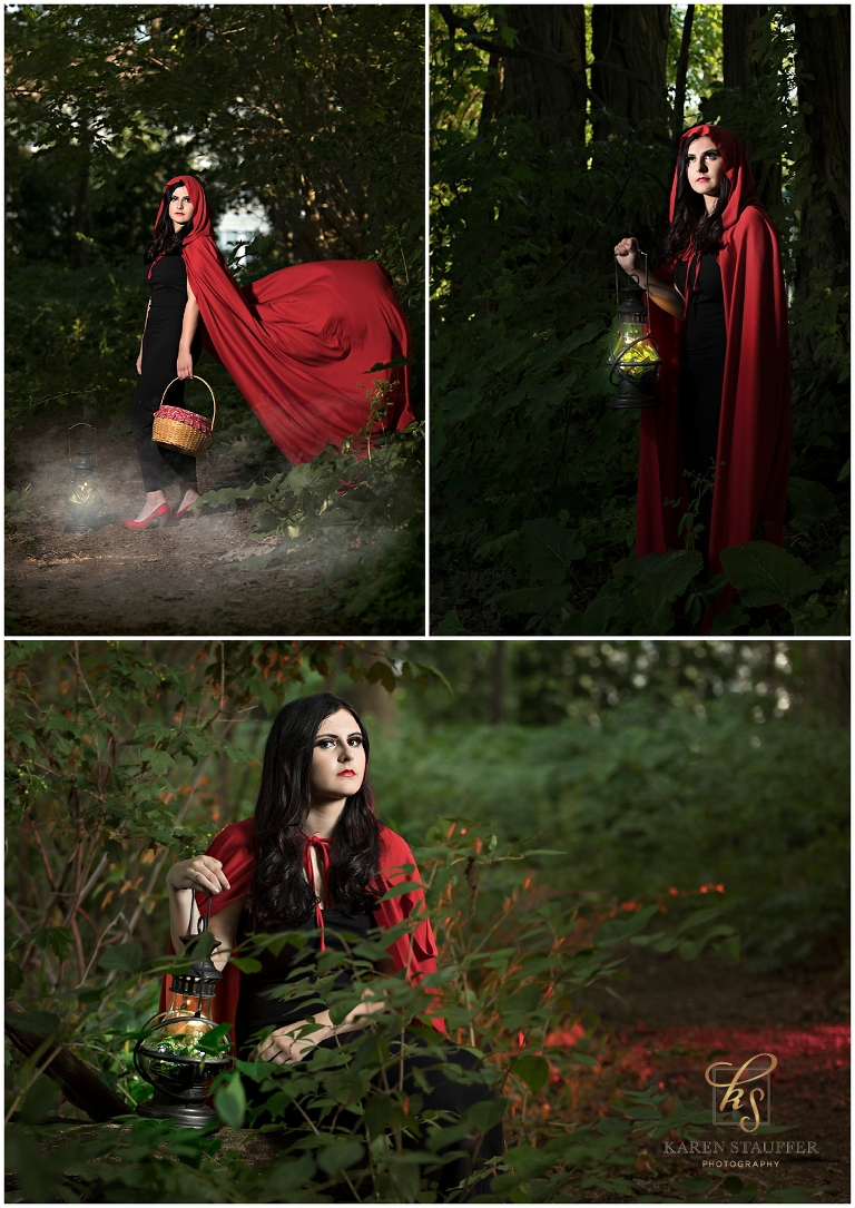 Little Red Riding Hood Inspired Photo Session by www.KarenStauffer.com